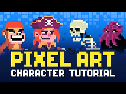 Pixel Art Character Design Tutorial - Step By Step!
