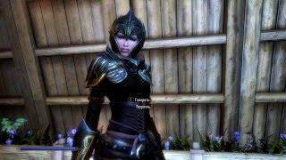 skyrim dress mod: Эльфийская броня разбойника Elven Rogue Armor