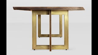 Art Deco Table Laminated Brass Walnut Legs. How We Made This.