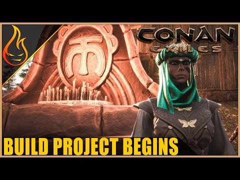 Epic Hut Building Conan Exiles Server Play Ep3