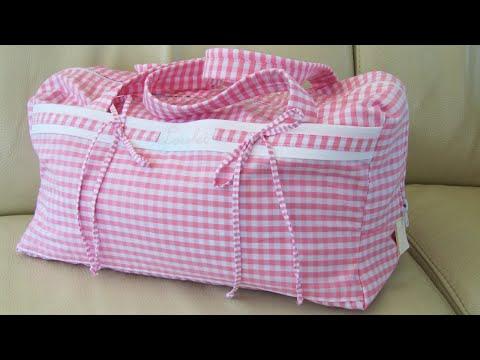 Sporttasche für Mädchen nähen| Ballett-Tasche | selbst gemacht | bestickt | DIY