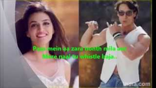 Mere Naal Tu Whistle Baja Song From Heropanti Video Lyrics