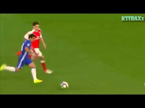 Hector Bellerin tackle vs Chelsea