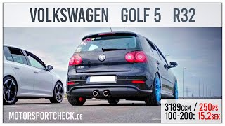 VW Golf 5 V R32 DSG 0-100 0-200 Sound Acceleration test