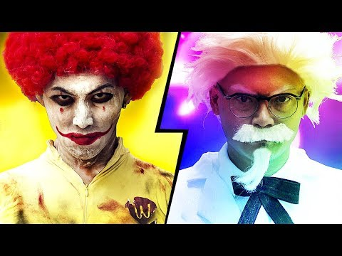 McDonalds VS KFC - Fast Food Battle 麥當勞 VS 肯德基