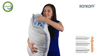Ronkoff 4D Cooling Gel Infused Shredded Memory Foam Bamboo Pillow Queen