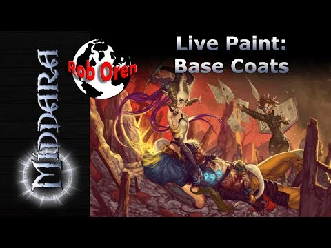 Rob Paints Middara Live - working some base coats