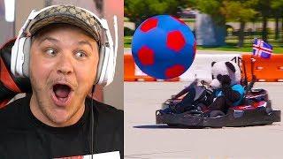Go Kart Soccer Battle | Dude Perfect - Reaction