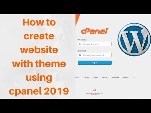 How to create website with theme using cpanel 2019