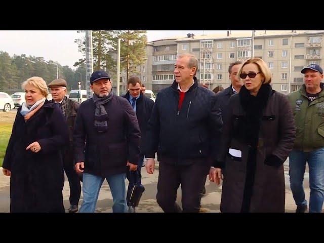 Ангарск посетил губернатор Сергей Левченко