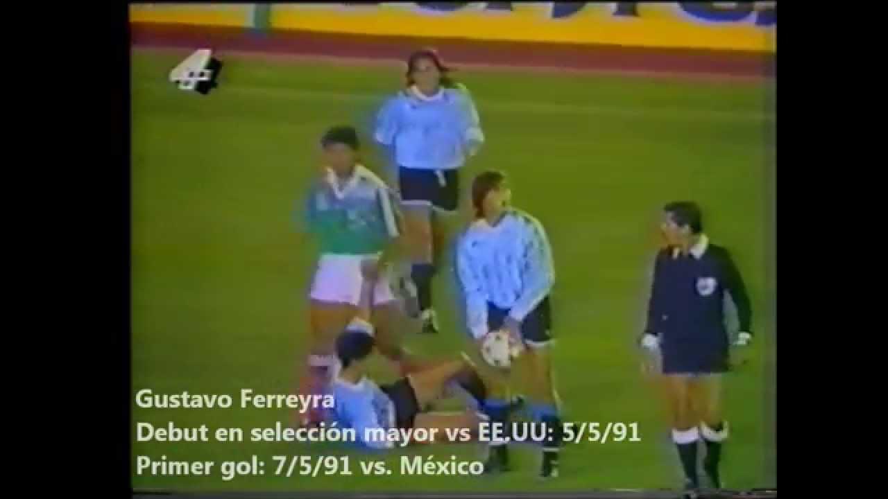 Debut de Gustavo Ferreyra en la selección y goles en la selección sub-20