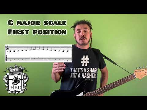 "Here is a free guitar lesson for you new guitarists out there. Today we learn the ""G Major Scale."""