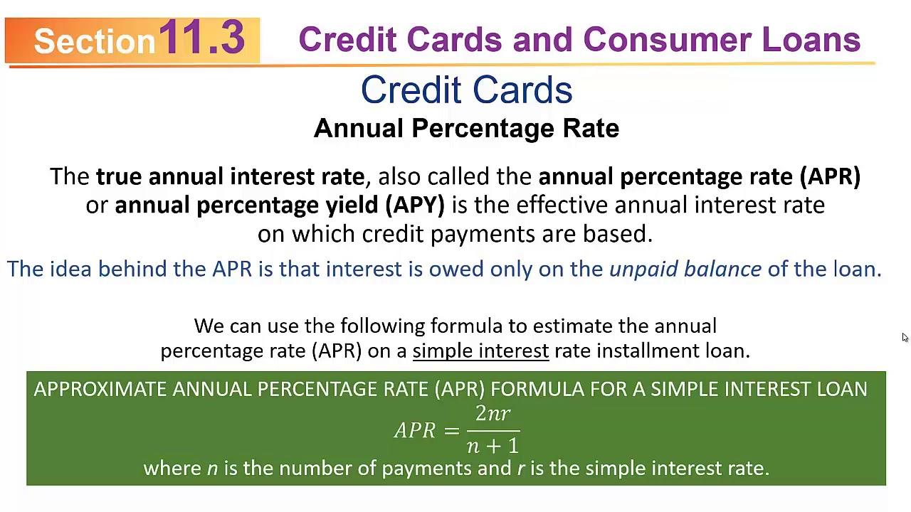 MATHEMATICS 110 Sec11.3 (F2019): Credit Cards and Customer Loans