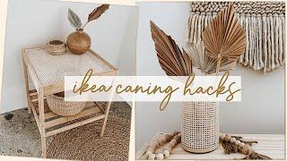 DIY Ikea Caning Hacks (Boho + Rattan Decor)