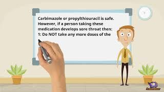 Carbimazole or propylthiouracil