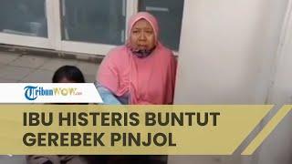 Buntut Penggerebekan Kantor Pinjol, Seorang Ibu Menangis Histeris saat Anaknya Diamankan Polisi