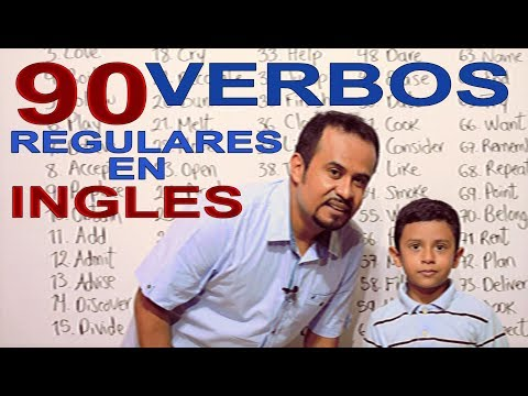 90 VERBOS REGULARES EN INGLES Mp3