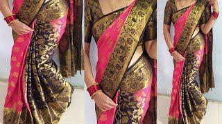 Paithani silk saree drape/Silk saree draping/पैठनी सिल्क् सारी परफेक्ट तरीके से पहनेsilksareewearing