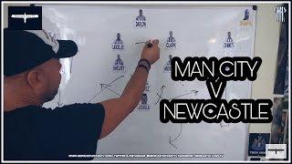 Tactics board   Newcastle United v Manchester City