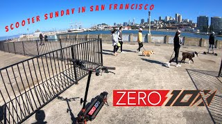 Zero 10x Electric Scooter Tours San Francisco On Scooter Sunday! | Gopro Hero RAW FPV