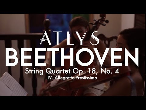 ATLYS quartet performing Beethoven String Quartet, Op. 18, no. 4 - Allegretto- Prestissimo