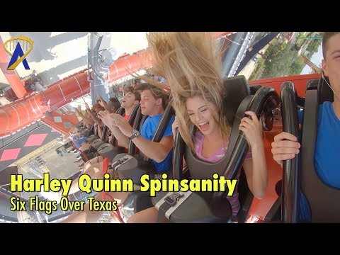 Harley Quinn Spinsanity at Six Flags Over Texas - First-Of-Its-Kind in the World