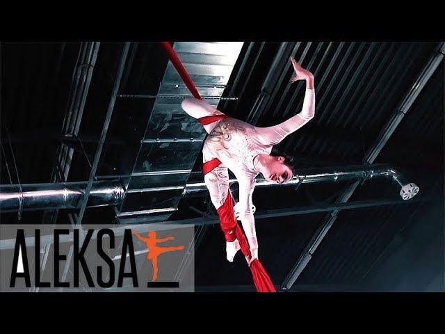 Танец на воздушных полотнах - воздушные полотна, воздушная гимнастика, акробатика. Елена Жиронкина