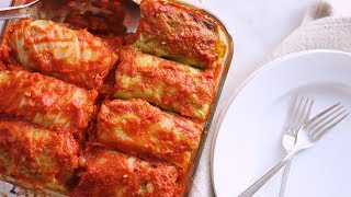 Stuffed Cabbage with Beef and Rice- Everyday Food with Sarah Carey