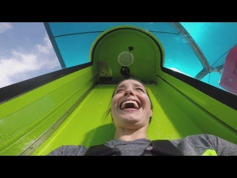 New Adventure Island water slide kicks off with 70-foot drop (видео)