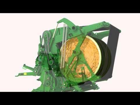 John Deere 900-serie Variabelkammer presse - film på YouTube