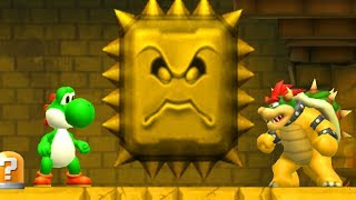 Bowser and Yoshi in New Super Mario Bros Wii (2 Players) - dooclip.me
