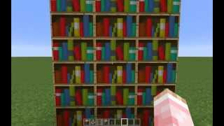 Minecraft Tutorial How To Make A Working Bookshelf