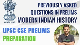 UPSC CSE Prelims - Previous Year Question Papers - Modern Indian History