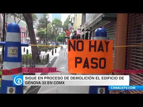 Continua en proceso de demolición edificio en Génova 33 en la Zona Rosa