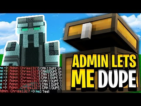 SERVER ADMIN LETS ME DUPE DUPING DUBS OF IRON GOLEMS WITH GMC *NEW* |  Minecraft duping - SeanYT