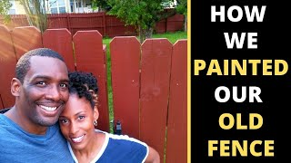 How We Painted our Old Wood Fence with Waterproof Stain & Sealer DIY