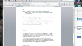Creating an Annotatied bibliography from PTEA