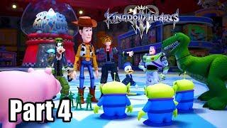 Kingdom Hearts 3 [PS4 PRO] Gameplay Walkthrough Part 4 - Toy Box (No Commentary)