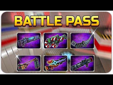 Pixel Gun 3D - Battle Pass Weapons Gameplay