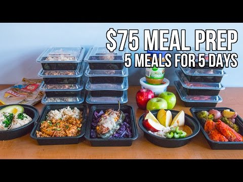 Video $75 Epic Meal Prep 2016 - 5 meals for 5 days