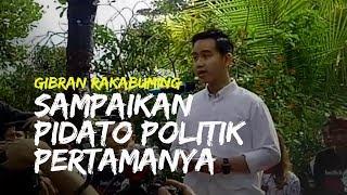 Video Gibran Rakabuming Pidato Politik Pertama sebelum Berangkat Mendaftar Calon Wali Kota Solo