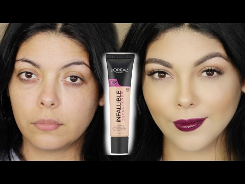 NEW LOREAL PARIS INFALLIBLE TOTAL COVER FOUNDATION REVIEW, TUTORIAL AND FIRST IMPRESSIONS