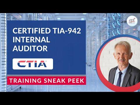 Certified TIA-942 Internal Auditor (CTIA) Course Sneak Peek ...