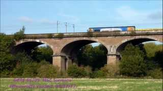 preview picture of video 'GBRF 66709 'MSC Sorrento' grumbles over Wharncliffe Viaduct, 09/10/12.'