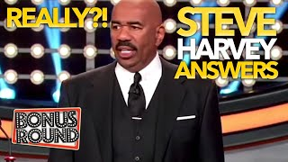 CELEBRITIES GIVE STEVE HARVEY ANSWERS! Steve Can't Believe These Answers On Family Feud USA