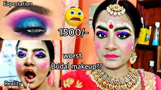 """I WENT TO THE WORST REVIEWED """"BRIDAL"""" MAKEUP ARTIST IN INDIA KOLKATA 