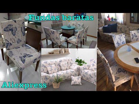 Fundas sillas y sofás aliexpress | Renueva tu salón comedor baratísimo