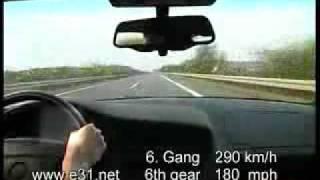 скорость  BMW 850 csi