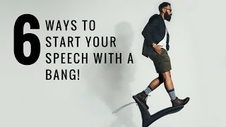 6 Excellent Ways to Start a Speech (with actual examples!)