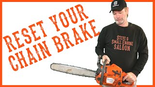 How to put your clutch cover back on your chainsaw after the how to reset a stuck husqvarna chainsaw chain brake keyboard keysfo